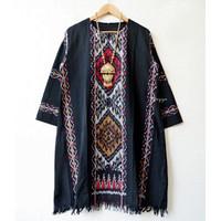 11 Tunik batik solo tenun troso (Leonjef Fashion)