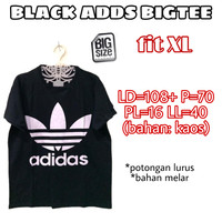 Black Adds Bigtee KAOS WANITA ADEM HITAM TERMURAH BASIC JUMBO FIT XL