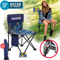 031-12 Speed Kursi Lipat Serbaguna Folding Chair Stool Camping Outdoor - M