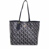 tote bag wanita Coach Reversible city with horse and Carriage print