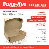 Kotak Makan Kertas / Paper Lunch Box / Packaging ECO / Bungkus Size S