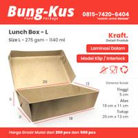 Kotak Makan Kertas / Paper Lunch Box / Packaging ECO / Bungkus Size L