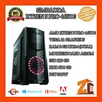 Pc Gaming/Editing Amd Ryzen 5 Pro 4650G Vega11 8GB 120GB 500GB - 8 gb