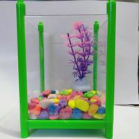 1 set aquarium aklirik / mica 15x10x10 aquarium cupang dan ikan hias