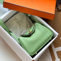 hermes lindy mini Handmade quality Full original Leather Tas hermes