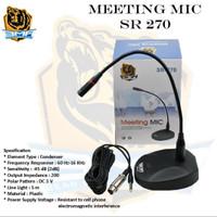 MEETING MICROPHONE MIC BMA SR270 SR-270 CONDENSOR MIK MEJA MIMBAR SR