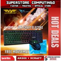 Armaggeddon AK666-AK666X Membran Gaming Keyboard Combo Alcatroz Xcraft