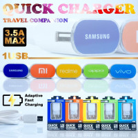 Tc Travel Charger Brand Quick Single Usb Port 3.5A Max Pack Import