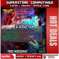 Armaggeddon AK666-AK666X Gaming Keyboard Alcatroz Xcraft Air Wireless