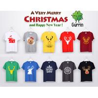 Kaos Natal Merry Christmas Custom Design 3 - XS - XL