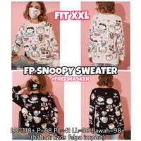 FP Snoopy Sweater LENGAN PANJANG WANITA MELAR IMPORT JUMBO XXL 2L 2XL