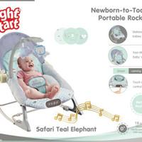 Right Start Infant To Toddler Rocker - SAFARI TEAL