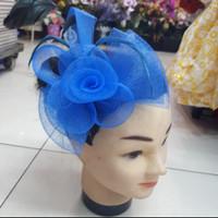 Headpiece Fascinator Jepit Jala Kecil Bunga Pita Warna 101