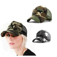topi jaring hutan berburu army camouflage militer baseball newsboy cap