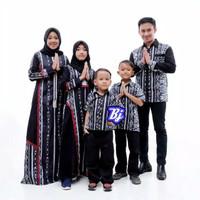 Set Batik Couple Keluarga Muslim Premium / Baju Kondangan Pesta Family