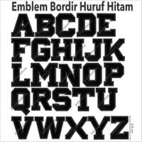 Emblem Bordir Flanel huruf S