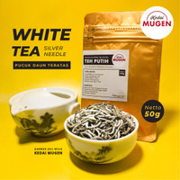 Premium White Tea Silver Needle/Teh Putih Kualitas Ekspor 50g