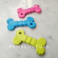 (C37) Mainan tulang karet gigit kunyah anjing hewan pet dog rubber toy