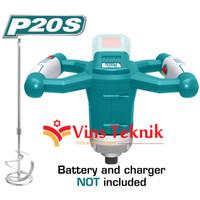 mesin pengaduk semen adonan baterai mixer cordless 20V TOTAL TMXLI2001