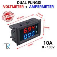 Dual Volt Amper Meter Digital 10 Amper Meter Voltmeter 0-100V Ammeter