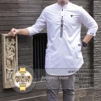 baju muslim pria koko toyobo warna putih