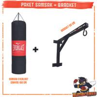 Paket Samsak Tinju Muay Thai 100cm + Bracket Gantungan Tembok 60cm