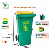 TONG SAMPAH BESAR RODA 120 liter TEBAL/TEMPAT SAMPAH RODA 120 liter