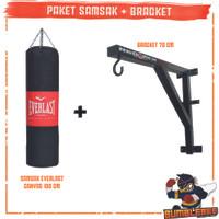 Paket Samsak Tinju Muaythai 1 Meter + Bracket Gantungan Tembok 70CM