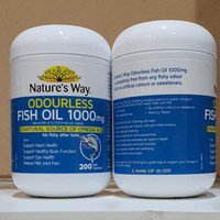 natures way odourless fish oil 1000 Mg omega 3 200 caps asli aussie