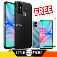Case Infinix Hot 10 Free Tempered Glass Full Cover - Hitam