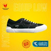 Sepatu Patrobas EQUIP LOW Black White - Sneakers Pria Wanita Original