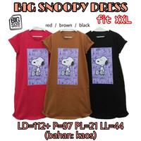 Big Snoopy Dress KAOS WANITA BAHAN MELAR CASUAL SUPER JUMBO XXL 2L 2XL