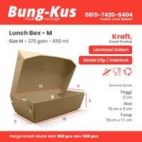 Kotak Makan Kertas / Paper Lunch Box / Packaging ECO / Bungkus Size M