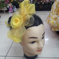 Headpiece Fascinator Jepit Jala Kecil Bunga Pita Warna 102