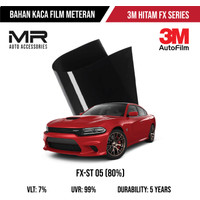 Kaca Film 3M Auto Film Hitam / Riben Mobil dan Gedung / Bahan Meteran
