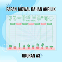 Acrylic Monthly Planner/Daily Planner/To Do List/PAPAN JADWAL