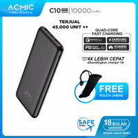 Power Bank With Dual Quick Charge 3.0 New ACMIC C10PRO 10000mAh PD