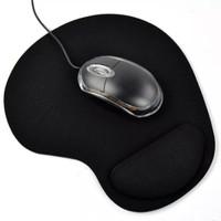 kantor 3d mouse pad bantalan gel tangan lengan memori foam hitam polos