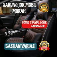 sarung jok mobil motif 2 seat agya jazz brio karimun - Sporty Deluxe