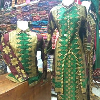 couple batik songket hijau emas