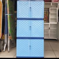 lemari plastik/lemari pakaian 3 susun/Lemari baju/Rak plastik