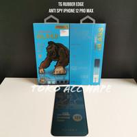 TEMPERED GLASS PREMIUM ANTI SPY RUBBER EDGE KINGKONG IPHONE 12 PRO MAX
