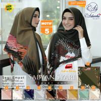 Jilbab Segi empat Jumbo Size Sabyan Syari Luser Cut Doble Side Motif 5