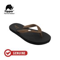 Fipper Comfy / Sendal Jepit Unisex / Black - Brown Dark