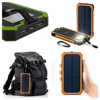 Powerbank Solarcell / Solar panel Battery Tenaga Surya 2 USB
