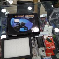 lampu led kamera vidio lighting + batterai +charger