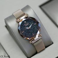 jam tangan wanita Dior magnet (3,3cm)mesin hitam