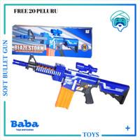 BLAZE STORM GUN M4 CARBINE BLASTER 7054 ( REPLIKA NERF ) ORIGINAL NEW