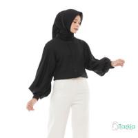 Atasan Muslim Wanita | Alexa Baloon Top Black | S M L XL | Original