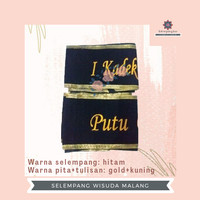 SELEMPANG WISUDA BLUDRU BORDIR PITA REQUEST WARNA